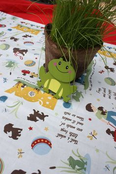 Frogs snails puppy dog tails party - cute wood cutout decorations