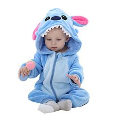 IDGIRL Unisexbaby Winter Flannel Romper Bluestar Outfits Suit NB31 *** Check out the image by visiting the link.