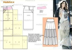 From ModelistA .to Try absolutely! : From ModelistA .to Try absolutely! Dress Making Patterns, Skirt Patterns Sewing, Sewing Patterns Free, Sewing Tutorials, Clothing Patterns, Techniques Couture, Sewing Techniques, Fashion Sewing, Diy Fashion