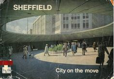A look back at Sheffield in South Yorkshire during the & The Christmas illuminations are more extensive in this city than anywhere else in the . Sheffield City, Sheffield England, Council Estate, Urban Industrial, South Yorkshire, Amazing Buildings, Slums, Built Environment, Brutalist