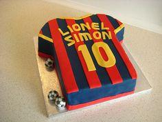 FC Barcelona soccer cake by Lomfise, via Flickr