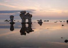 Rock formations (Rauk)  at Fårö, Gotland