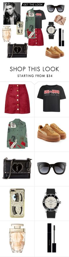 """Untitled #375"" by gloriatovizi on Polyvore featuring Boohoo, Tommy Hilfiger, MadeWorn, Puma, Yves Saint Laurent, Gucci, Chiara Ferragni, Breitling, Cartier and Surratt"