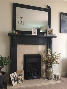 25 best painted fire surround images log burner fire places home rh pinterest com