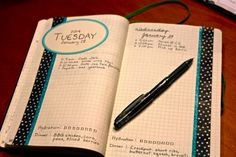 Bullet journal nice setup.