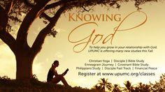 Fall classes begin in September at University Park United Methodist Church. Register at www.upumc.org/classes