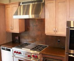 copper kitchen countertops and backsplashes | Copper backsplash from The Metal Peddler - Handcrafted in USA!
