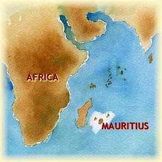 Indian Ocean   Map of Mauritius Indian Ocean