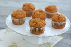 Whole Spelt Pumpkin Muffins. The spelt makes these cake-like...yum. Eat now or freeze for later.