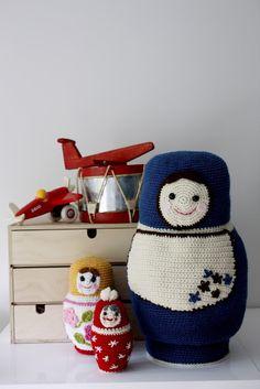 a matroyshka doll amigurumi