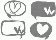 View Design: talk bubbles - hearts