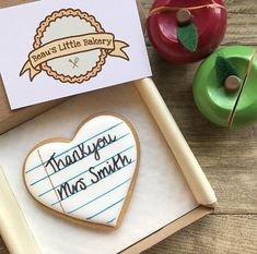 Your place to buy and sell all things handmade Thank You Teacher Gifts, Cookie Gifts, Biscuit Cookies, Personalized Gifts, Handmade Gifts, Biscuits, Gift Ideas, Heart, School