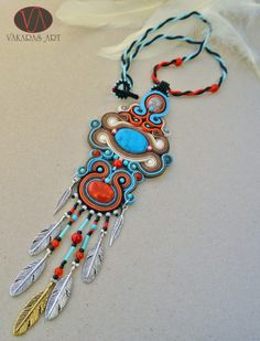 Chiricahua 04 - soutache necklace, Indian style