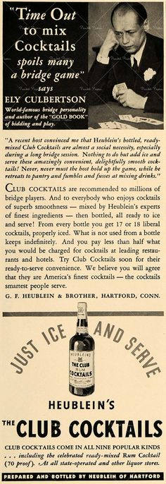 Cocktails ad - style