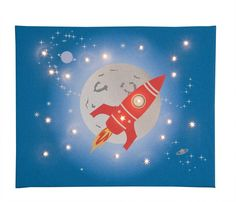 Space Rocket Canvas £34