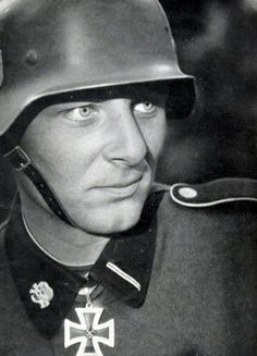 Unterscharführer Fritz Christen was the youngest member of the Waffen SS to receive the Knight's Cross personally from Adolf Hitler. He won this highest distinction for his actions during the Battle of the Demyansk Pocket, Sept-Nov 1941.Christen fought until the end of the war with distinction. He was captured by the US and turned over to the Russians. He was a POW for ten years, returning to Germany in 1955. He died in 1995, aged 74.