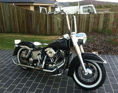 harley black flh shovelhead | 1975 Harley Davidson FLH Shovelhead #harleydavidsonfatboyoldschool
