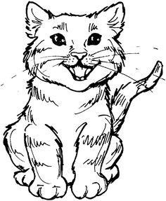 desenhos de gatos para imprimir e colorir kids coloring pagescoloring