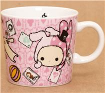 pale pink Sentimental Circus cup rabbit playing cards
