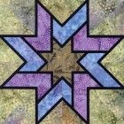 Stained Glass Valse Quilt Block Pattern