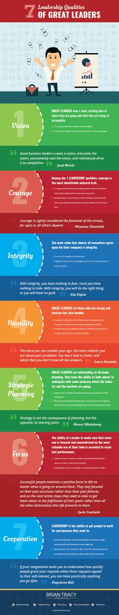 There are many qualities that are important for great leaders to have. But there are 7 leadership qualities that seem to stand out as being more important than others.