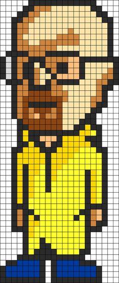 Heisenberg Perler Bead Pattern / Bead Sprite