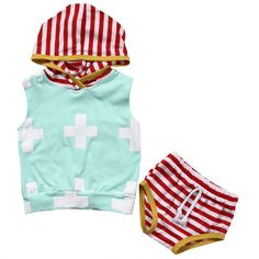 Newborn Baby Boy Clothes Summer Baby Boys Hoodies Tops+ Shorts Striped Pants Outfits Set Clothes Drop Shipping  #Affiliate