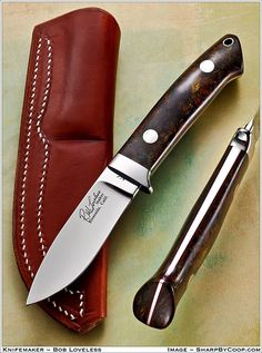 Stainless steel is normally less costly, will maintain its good looks but is not hard enough to keep the very best possible edge. Bushcraft Knives, Tactical Knives, Cool Knives, Knives And Swords, Knife Art, Edc Knife, Knife Sheath, Handmade Knives, Knife Sharpening