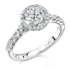 Engagement Ring: Custom Order. 45 Round Brilliant diamonds (approx 0.96ct. TW)