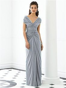After Six Bridesmaid Dress 6652- I like waist up. Maybe with crystal embellished sash and short cut with empire waist
