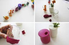 Ingeniosos jarrones hechos con globos | Muy Ingenioso