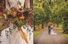 Bride and groom from an autumn Somerset country house wedding. Images by Howell Jones Photography V Neck Wedding Dress, Sexy Wedding Dresses, Black Suit Wedding, Fields Of Gold, Fall Color Palette, Autumn Wedding, Wedding Images, Somerset, Weddingideas