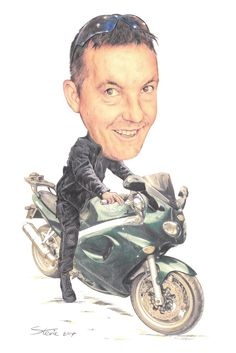 A3 Full Colour Caricature. www.leadinyapencil.co.uk