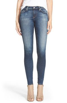 Free shipping and returns on AG 'The Legging' Ankle Jeans (4 Years Borrowed) at Nordstrom.com. Vintage fading and whiskering accent dark-blue stretch jeans fashioned with skinny legs. Contrast stitching on the back pockets brands the look.