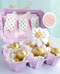 Egg carton crafts easter