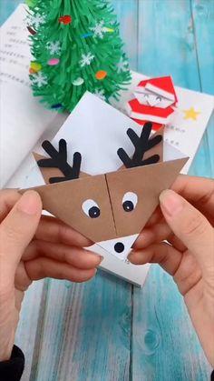 Cool Paper Crafts, Paper Crafts Origami, Fun Crafts, Origami Art, Origami Flowers, Kawaii Crafts, Santa Crafts, Oragami, Diy Crafts Hacks