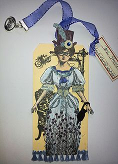 Steampunk Tag Art by Vilma Gasnier, Paris, France, working with Character Constructions art stamps.