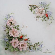 ribbon embroidery - Cerca con Google