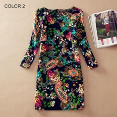 2016 Floral Vintage Women Dress Autumn Spring Casual Female Pocket Long Sleeve Dresses Plus size Dress vestidos longos robe   http://www.dealofthedaytips.com/products/2016-floral-vintage-women-dress-autumn-spring-casual-female-pocket-long-sleeve-dresses-plus-size-dress-vestidos-longos-robe/