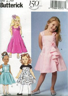SIZES 3-6//7-14 SEWING PATTERN 6 STYLES MAKE GIRLS PARTY~FANCY SUMMER DRESS