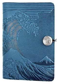 Leather Refillable Journal Hokusai Wave 2 sizes | 3 Colors