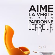 Stickers muraux citations - Sticker Aime la vérité mais... | Ambiance-sticker.com