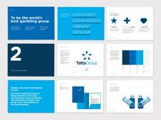 Manual corporativo de la marca Tatts Group, diseñado por Hulsbosch #manual #corporativo #brandgourmet