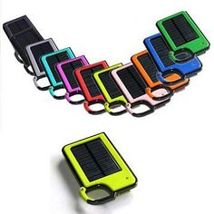 Buy Clip On And Tag Along Solar Charger For Your Smartphone by Vista Shops on OpenSky