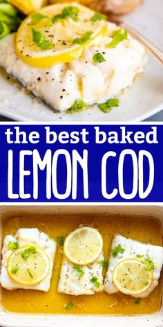 Impress your family for dinner tonight with this incredibly easy Garlic Butter Lemon Baked Cod! With the zesty lemon and the rich garlic butter sauce, this will get the thumbs-up from even the pickiest eaters. A great meal for Lent as well! | #recipe #dinner #dinnerideas #dinnerrecipe #easydinner #easydinnerrecipes #lent #lentenrecipes #recipesforlent #fishrecipes #cod #codrecipes #bakedcodrecipe Best Fish Recipes, Baked Cod Recipes, Delicious Dinner Recipes, Easy Chicken Recipes, Grapefruit Recipes, Citrus Recipes, Orange Recipes, Clean Recipes, Butter Sauce