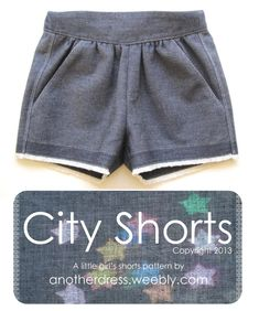 City shorts - free pattern (size 3-4) - you will have to sign up and give personal detail if you want the pattern