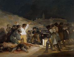 El 3 de mayo en Madrid. Famosa obra pintada por Francisco de Goya en 1814. Su estilo es el Prerromanticismo. Creo que esta obra es importante, muestra un acontecimiento histórico, y una de las consecuencias inevitables del imperialismo.