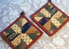 quilted potholder patterns | Quilted by stitching near the edges ... : quilted pot holders - Adamdwight.com