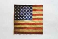 1 Serviette en papier DRAPEAU AMÉRICAIN : Serviettage, Décopatch par boutique-creative-by-c-dona