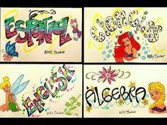 ¡MARCA TUS CUADERNOS! / IDEAS PRECIOSAS ❤ REGRESO A CLASES - Kathy's Secret - YouTube School, Videos, Illustration, Color, Home, Decorated Notebooks, Creative Notebooks, School Starts, Colour